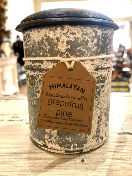 White Spice Tin ~ Grapefruit Pine