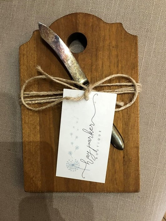 Mini Cheese Board with Vintage Knife