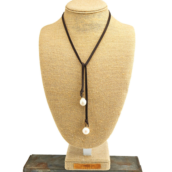 Dark Brown Leather Lariat