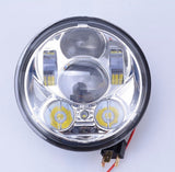 "Motorcycle Headlights - 5.75"" 50w LED Headlight Chrome"