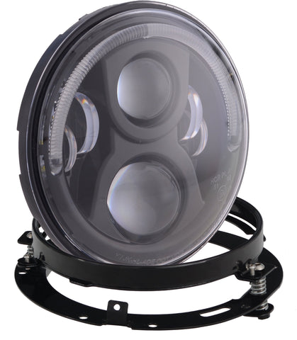 "Motorcycle Headlights - 7"" 80w Halo With Mounting Bracket"