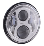"Motorcycle Headlights - 7"" 80w Headlight With Halo"