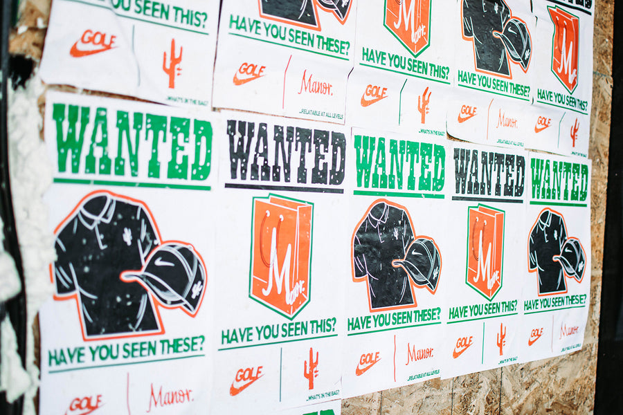 "Manor Presents the ""Wanted"" Campaign Ahead of Its Nike Golf Collaboration"