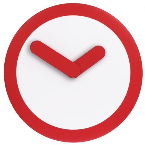 Red 'Focus' Wall Clock (25cm)