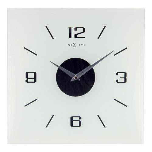 Frosted Glass 'Willie' Wall Clock