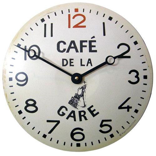 Convex Kitchen Clock - Café de la Gare Design (28cm)