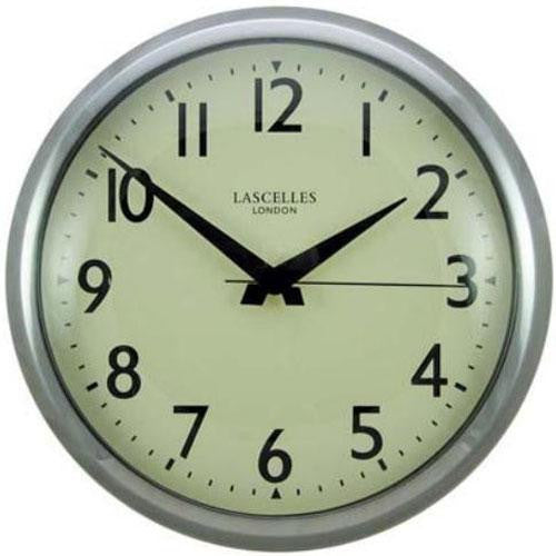 Retro Chrome Wall Clock with Sweep Seconds Hand (30cm)