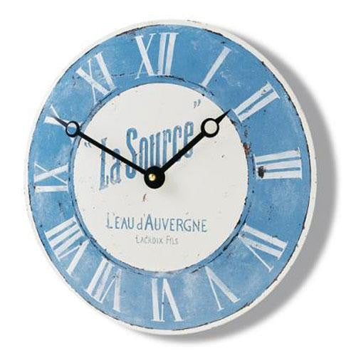Convex Enamel Wall Clock - La Source (28cm)