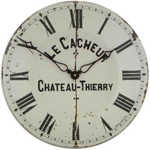 Large Enamel Cacheur Wall Clock (36cm)