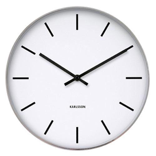 White Classic Station Wall Clock (37.5cm)