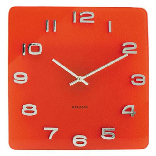 Vintage Red Glass Wall Clock