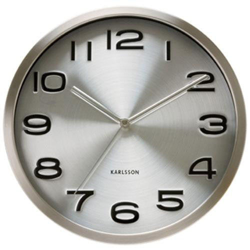 Maxie Steel Wall Clock (29cm)