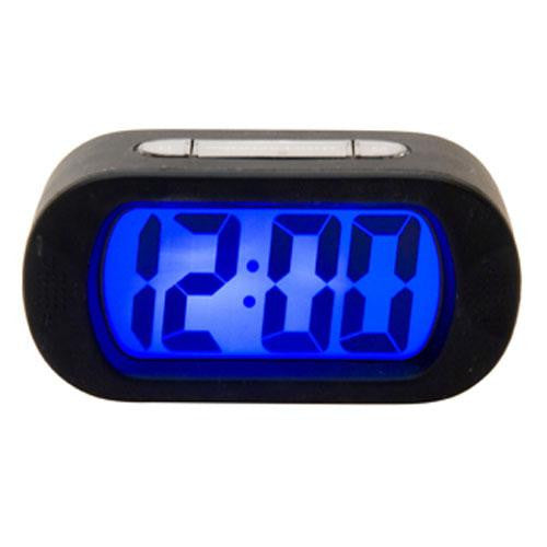 Black Gummy Alarm Clock
