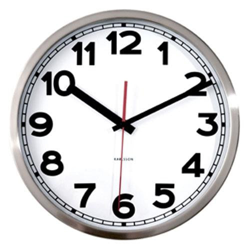 Polished Steel Wall Clock (29cm)