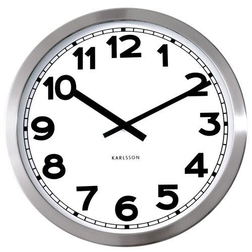 Polished Steel Wall Clock (50cm)
