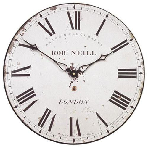 'Neill' Classic London Wall Clock (Medium - 25.5cm)