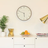 NEWGATE MR CLARKE CLOCK - DARK WOOD - DOT
