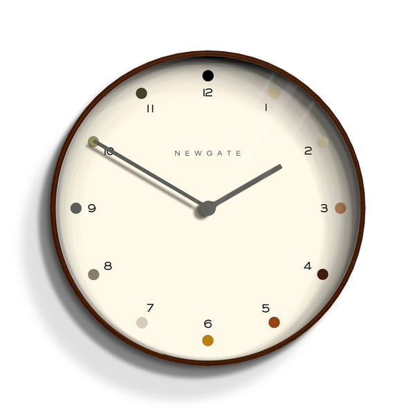 MR CLARKE CLOCK - DARK WOOD - DOT