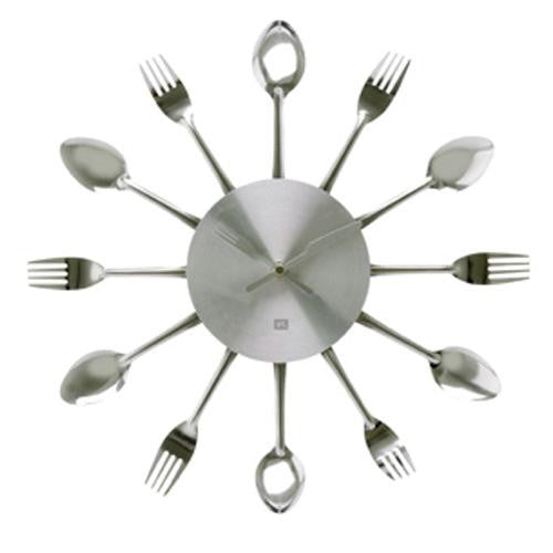 Silverware Utensils Wall Clock (38cm)