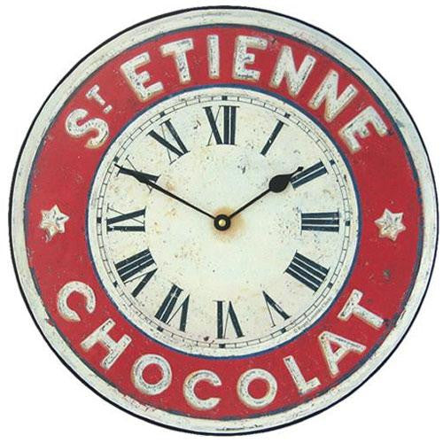Chocolate French St. Etienne Wall Clock (36cm)