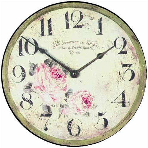Floral Parisian Wall Clock (36cm)