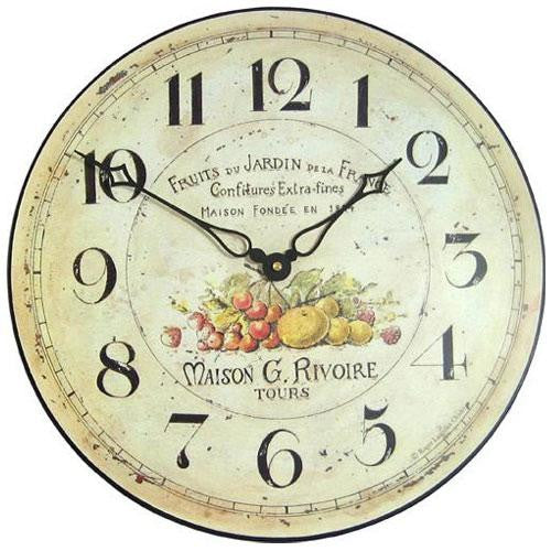 Garden Fruits Wall Clock (36cm)