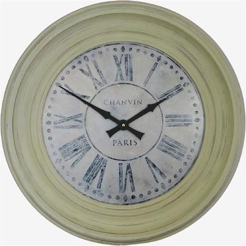 Grey Framed Chanvin Dial Clock (50cm)
