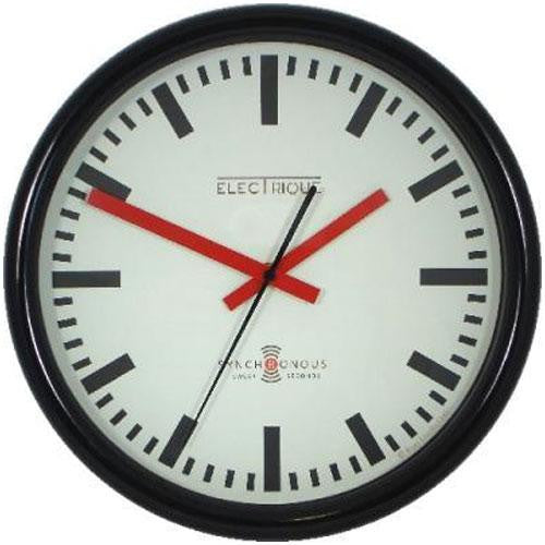 Swiss Station Clock & Sweep Second Hand (30cm)