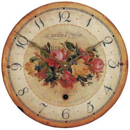 'Bouquet' Emilie Rose Wall Clock (34cm)