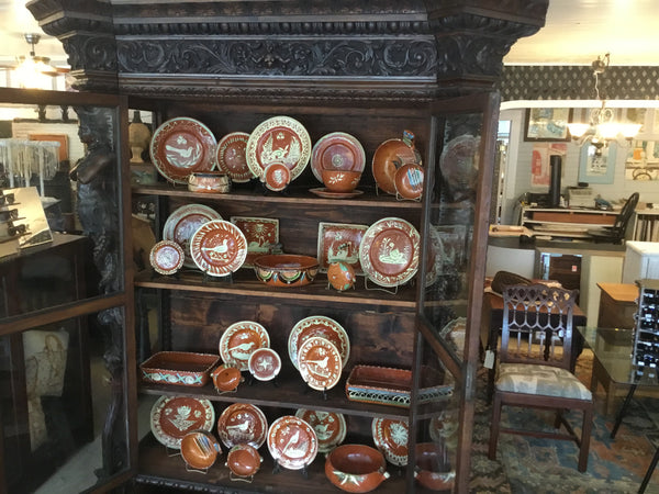 Handcrafted Victorian China cabinet