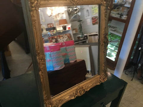 100 years old gold frame mirror