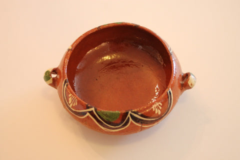 Red Clay Pottery Bowl - The Leaves
