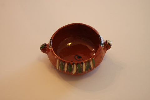 Red Clay Pottery Bowl (Small) - The Leaves
