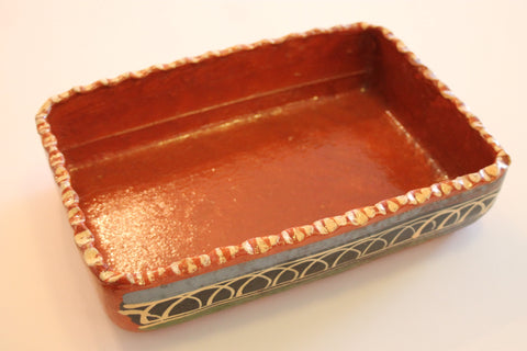 Red Clay Pottery Rectangle Pie Dish
