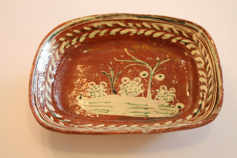 Red Clay Pottery Fruit Fruit Bowl