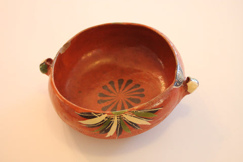 Red Clay Pottery Bowl (Big) - The Leaves