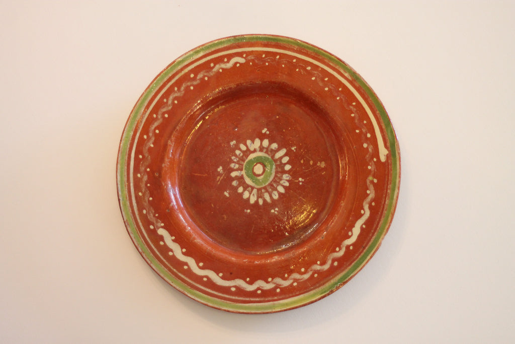 Red Clay Pottery Oval Plate