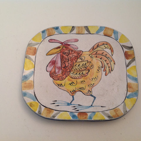 Pottery wall hanging plate