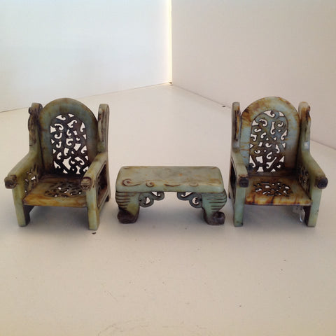 Genuine Jade table and chairs set