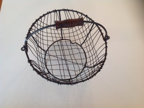 Hand made wire egg basket