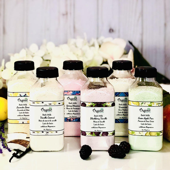 Bath Milk Handmade Small Batch in Whitby Ontario Canada by Organic Inspirations