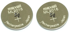 ML2016 Battery Maxell (2 Pieces) - Rechargeable Battery for Solar watches (TC-1342)