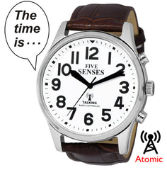 Atomic English Talking Watch - Jumbo Size 43mm with Louder Alarm Clock Five Senses 1524