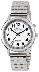 2nd Generation Talking Watch - Silver-Tone Alarm Day-Date Unisex-adult Watch (1156)(M106)