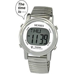 ATOMIC! Talking Watch - Sets Itself SENSES Metal Easy-To-Read Talking Watch (TC-1021)