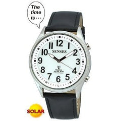 ATOMIC SOLAR TALKING! SENSES Sets Itself Solar Power Stylist Talking Watch 1395