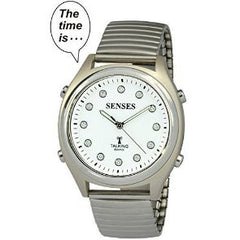 ATOMIC! Talking Watch - Sets Itself SENSES Women's Crystal Stylist Talking Watch (TC-1022)