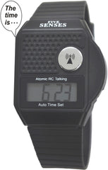 ATOMIC Talking watch - 5 Senses Top Button LCD Atomic Talking Watch UK & USA only  (TC-1026 )