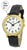 Talking Watch 2nd GENERATION ! men gold -Tone Alarm low vision metal Talking Watch 1157