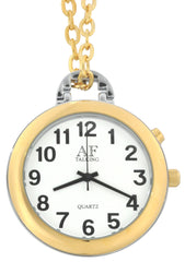 Talking Watch 2nd GENERATION ! 2 -Tone Alarm low vision metal Talking pendant Watch (TC-1161)(M106)